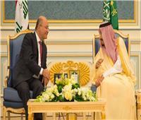 خادم الحرمين يبحث مع الرئيس العراقي مستجدات الأحداث في المنطقة