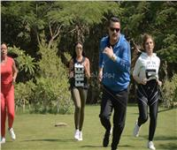 سارة سلامة ورانيا يوسف تتحديان مجدي كامل في سباق 100 متر
