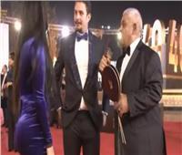 أحمد الفيشاوي وزوجته في مهرجان القاهرة السينمائي