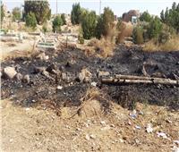 الآثار: النيران لم تطل المباني الأثرية بحريق الجبانة الفاطمية في أسوان
