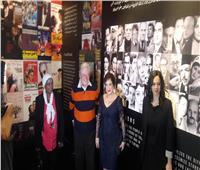 صور| حسين فهمي ولبلبة في افتتاح معرض «القاهرة السينمائي»