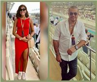 «فورمولا 1» يجمع عمرو دياب ودينا الشربيني في أبو ظبي