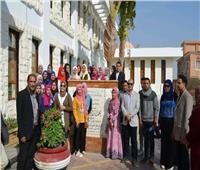 انطلاق الفوج الثامن من شباب جامعة المنوفية لزيارة محطة مياه العاشر