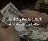 فيديوجراف| 36 شائعة كشفها المركز الإعلامي لمجلس الوزراء خلال نوفمبر