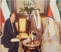 وزير الخارجية سامح شكري يلتقي الشيخ صباح الأحمد أمير دولة الكويت