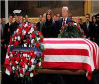 مشاهد من تأبين «بوش الأب».. ترامب على رأس قائمة الحضور