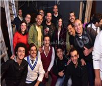 صور| الرداد وإيمي ورزق ومغني يشاهدون «جريما في المعادي»