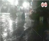 شاهد| الأمطار تُغرق شوارع القاهرة