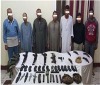 ضبط أطراف خصومات ثأرية في أسيوط وبحوزتهم 10 قطع أسلحة نارية