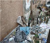خرطوش وملابس داخلية.. حصيلة حملة لتطهير مقابر «أبو شعرة» بأشمون