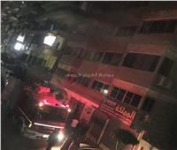 الصور الأولى لحريق بمخزن قماش بمنطقة جسر السويس