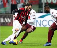 ميلان يتعادل بصعوبة مع تورينو في الدوري الإيطالي