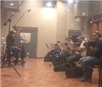 المايسترو سعيد كمال ينتهي من تسجيل أغنية فيلم الرعب١٢٢