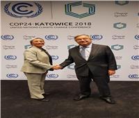 وزيرة البيئة تلتقي الأمين العام للأمم المتحدة مجددًا في بولندا