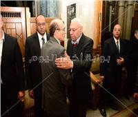 صور| صبحي وصلاح عبد الله وبدير في عزاء «القلعاوي»