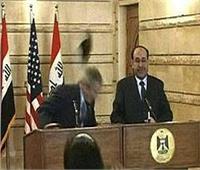 بالفيديو| إحياء الذكرى العاشرة لرشق جورج بوش بـ«الحذاء»