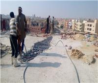 «القاهرة الجديدة» تواصل إزالة مخالفات البناء والإشغالات