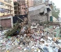 لقطة اليوم| أكوام القمامة تحاصر مدرسة أبو بكر الصديق بعزبة النخل
