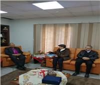 اندريا زكي يُستقبل الأمين العام لمجلس كنائس الشرق الأوسط