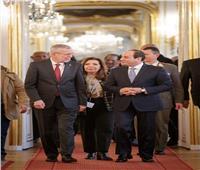 المستشار النمساوي يقيم مأدبة غداء علي شرف الرئيس السيسي