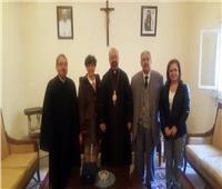 بطريرك الكاثوليك يستقبل الأمين العام لمجلس كنائس الشرق الأوسط