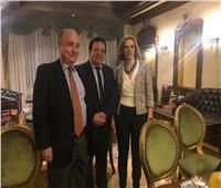 الجمعية المصرية البلجيكية تبحث مع السفيرة دي كارتيه زيادة الفرص التجارية والاستثمارية المشتركة