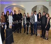 صور| محمد رجب ونرمين ماهر في حفل «كريسماس كونكورد»