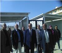 رئيس جامعة الأزهر يتفقد أعمال الكوبري الجديد بفرع البنات