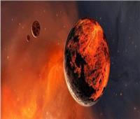 شاهد  صور جديدة توضح شبه الكويكب الأحمر والأرض