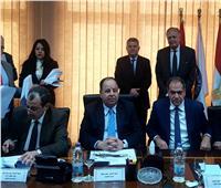 وزيرا قطاع الأعمال والمالية يشهدان توقيع اتفاقية تسوية عمر أفندي