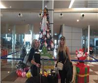 بالورود و«شجر الكريسماس».. مطار الغردقة يستعد لاحتفالات رأس السنة