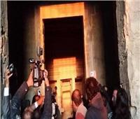 فيديو.. تعامد الشمس على قدس الأقداس بمعبد قارون