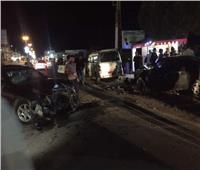 مصرع شخص وإصابه 3 آخرين بتاكسي في المعصرة