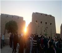 احتفالات الصوت والضوء بتعامد الشمس على معبد الكرنك