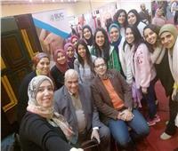 صور| إقبال من زائري معرض الحرف اليدويه علي جناح طلبة الفنون التطبيقية