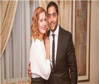 بالصور| أحمد فلوكس وهنا شيحة يحتفلان بزفافهما أمام الرئيس السيسي