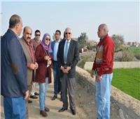 محافظ الجيزة يتفقد مشروع صوامع بني سلامة بمنشأة القناطر