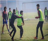 لاعبو الأهلي يخوضون مران ترفيهي
