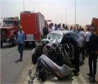 إصابة 7 اشخاص في حادث تصادم بطريق شبرا بنها الحر