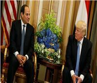 السيسي وترامب يبحثان مستجدات الأوضاع في الشرق الأوسط