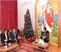 وفد من الرقابة الإدارية يهنئ البابا تواضروس بعيد الميلاد المجيد