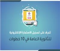 إنفوجراف |10 خطوات لتسجيل الاستمارة الإلكترونية للثانوية العامة