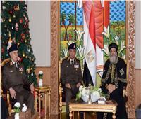 وزير الدفاع يهنئ البابا تواضروس الثاني بمناسبة عيد الميلاد المجيد