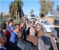 بالصور.. وزير النقل يتفقد أعمال تطوير طريق «المنيا /أبوقرقاص»