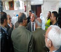 رئيس جامعة أسيوط يتفقد قسم الإستقبال العام بالمستشفى الجامعي الرئيسي