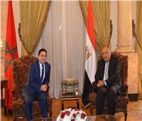 وزير الخارجية ونظيره المغربي يبحثان مُستجدات الأوضاع العربية