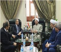 شوقي علام يستقبل وفد رفيع المستوى برئاسة مفتي أوزباكستان