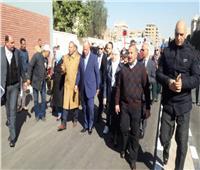 بالصور.. محافظ القاهرة يتابع إنشاء محطة مترو هارون بمصر الجديدة