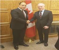 سفير مصر في كندا يلتقي مستشار رئيس الوزراء الكندي