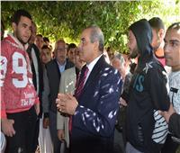 صور  رئيس جامعة الأزهر بتفقد حجرات طلاب المدينة الجامعية والمركز الطبي
